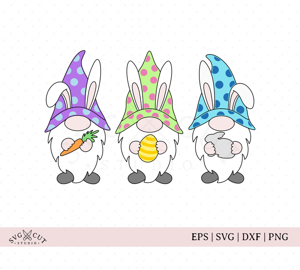 Easter Gnomes SVG Cut Files