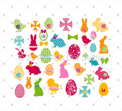 Easter Bundle SVG Cut Files - SVG DXF PNG cut cutting files for Cricut and Silhouette by SVG Cut Studio