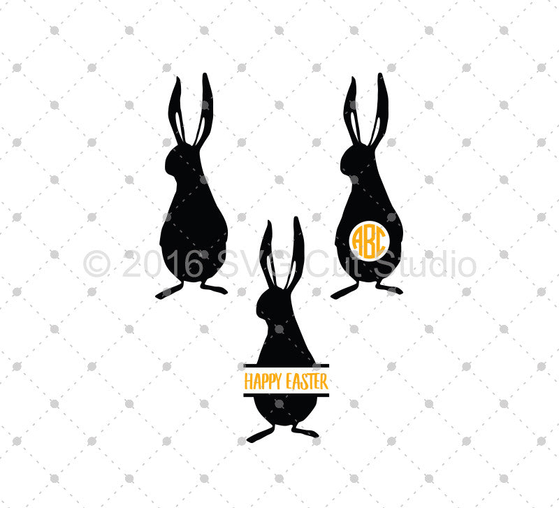 Easter Bunny SVG Cut Files D5 - SVG DXF PNG cut cutting files for Cricut and Silhouette by SVG Cut Studio