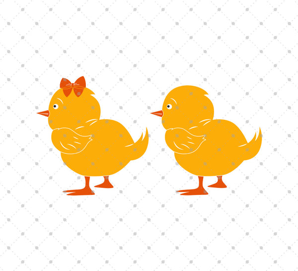 Download SVG Cut Files for Cricut and Silhouette - Easter Chick ...