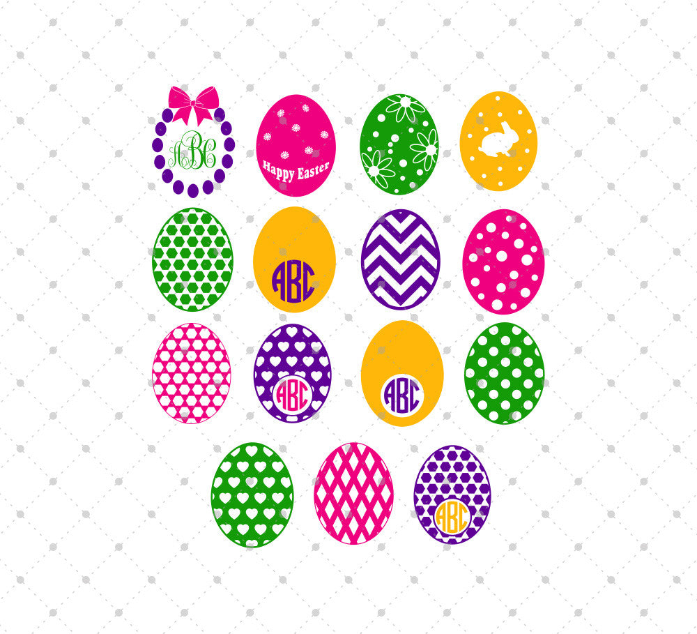 Easter Eggs SVG Cut Files - SVG DXF PNG cut cutting files for Cricut and Silhouette by SVG Cut Studio
