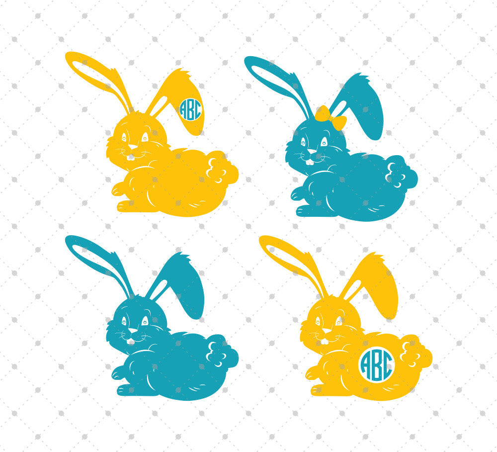 Easter Bunny SVG Cut Files #2 - SVG DXF PNG cut cutting files for Cricut and Silhouette by SVG Cut Studio