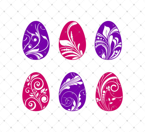 Easter Eggs SVG Cut Files #2 at SVG Cut Studio