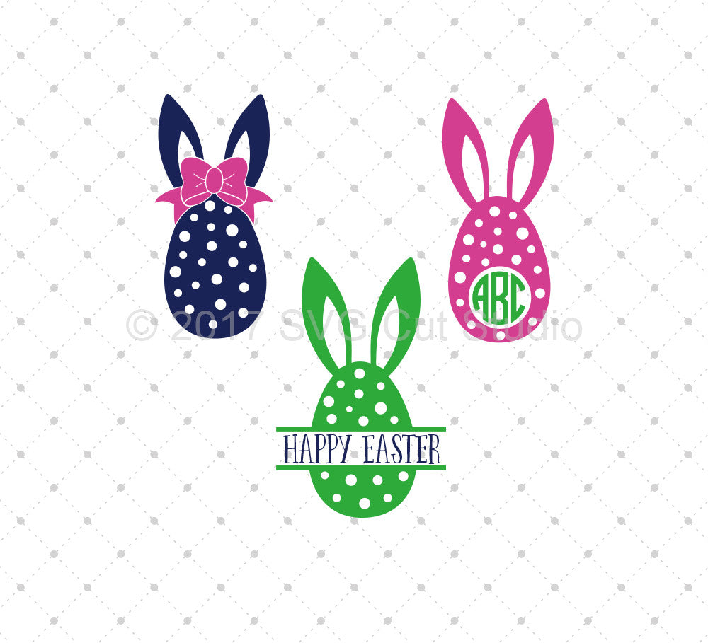 Easter Eggs SVG Cut Files - SVG Cut Studio