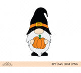 Halloween Fall Gnome with pumpkin SVG Files
