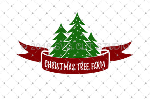 Christmas Tree Farm SVG Cut files at SVG Cut Studio