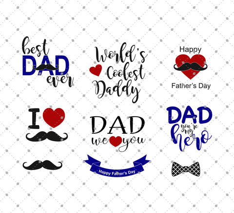 Father's Day SVG Cut Files png dxf cutting files cricut silhouette free svg files christmas 4th of july valentines day easter svgcutstudio.com