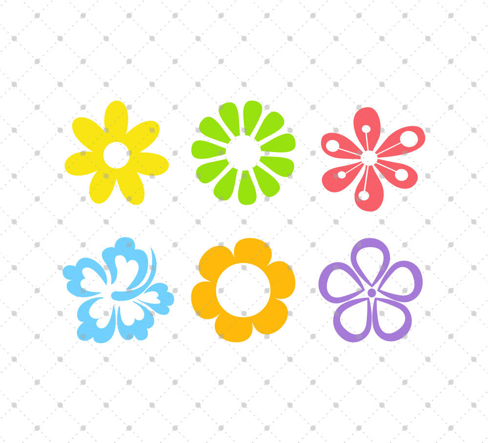 Download SVG Cut Files for Cricut and Silhouette - Summer Flowers ...
