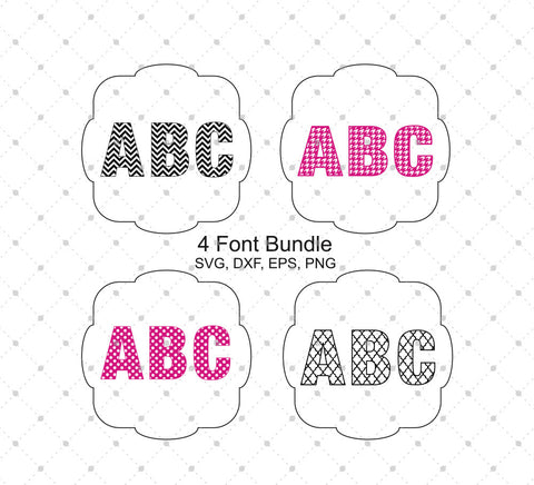 Patterned Font Bundle SVG Cut Files - SVG Cut Studio