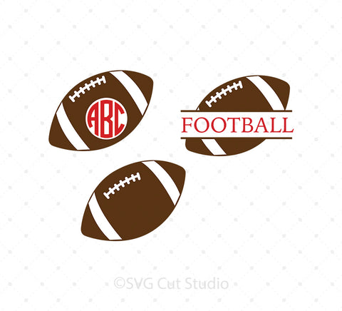 Football Ball SVG Cut Files for Cricut Silhouette printable png dxf clipart and free svg files by SVG Cut Studio