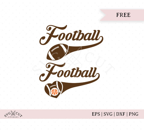 Football SVG Cut Files
