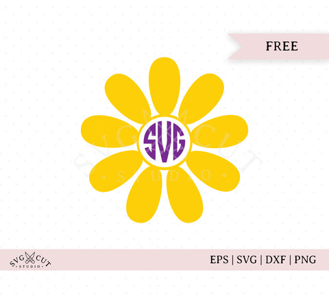 Free Flower Monogram Frame SVG Cut Files