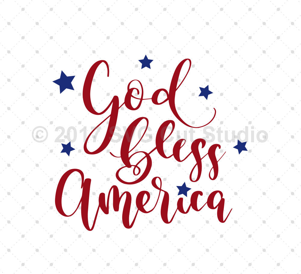 God Bless America SVG Cut Files
