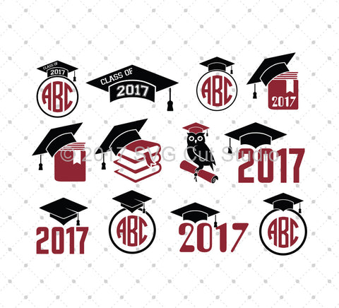 Graduation Class 2017 Monogram Frame Bundle SVG Files for Cricut Explore Silhouette Cameo Etsy svg files - SVG Cut Studio