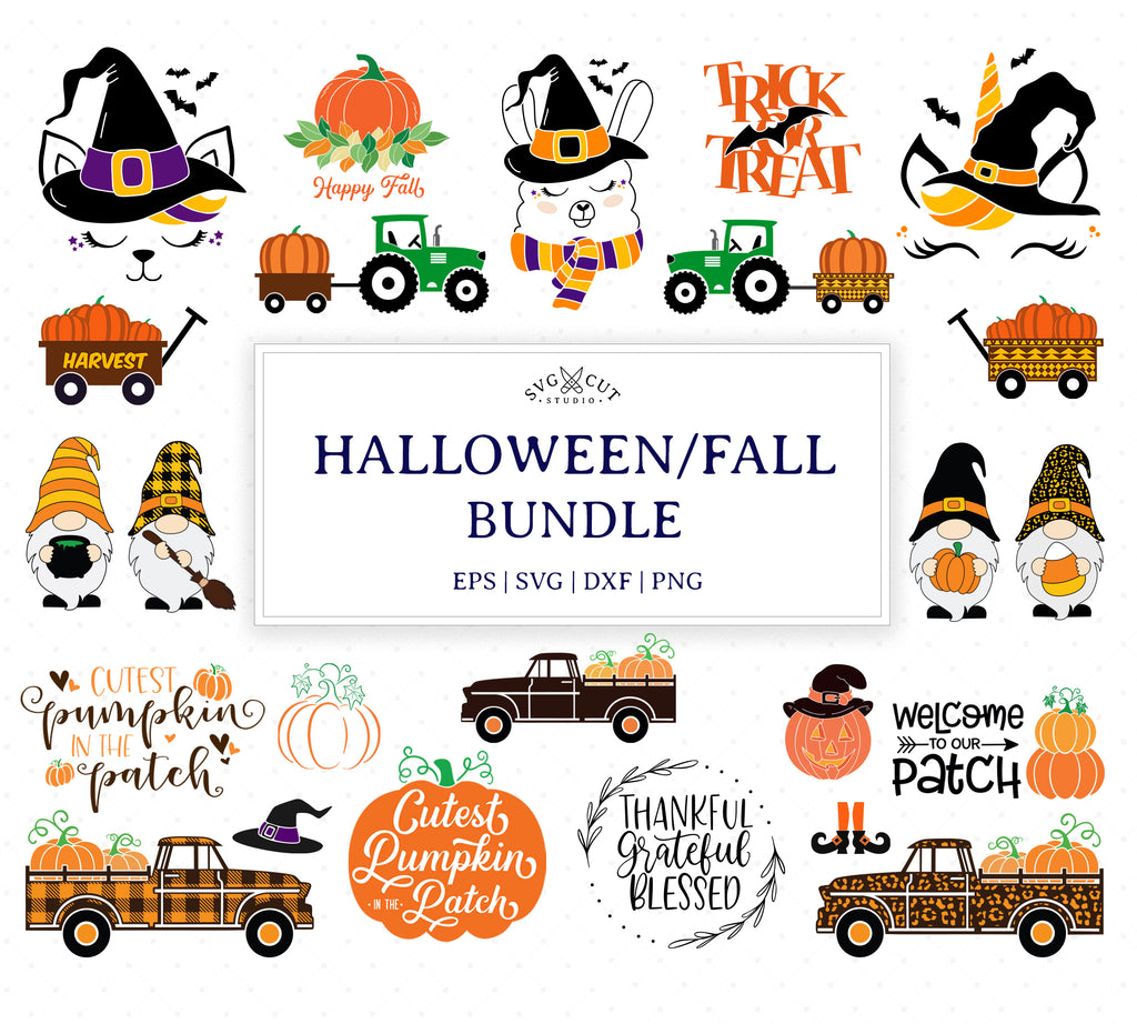 Halloween Fall Bundle SVG Files