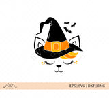 Halloween Cat Face SVG Files