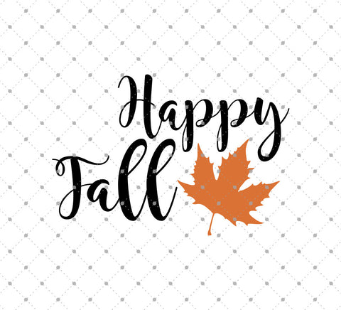 Happy Fall SVG Cut Files