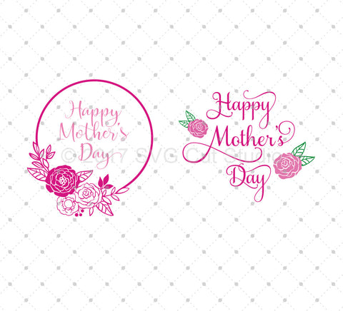 Mother's Day SVG Cut Files - SVG DXF PNG cut cutting files for Cricut and Silhouette by SVG Cut Studio