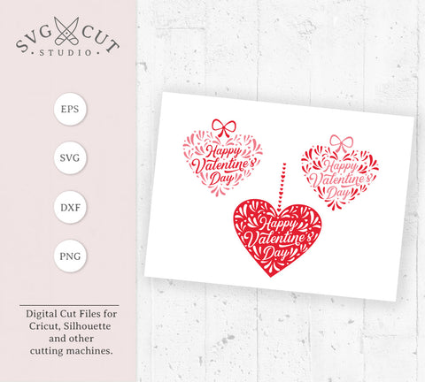 Happy Valentines Day heart quote svg files at SVGCutStudio