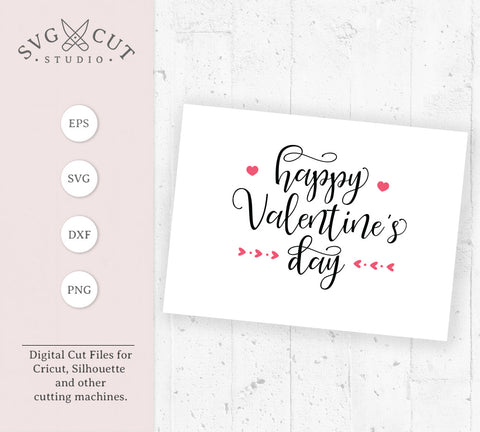 Happy Valentines Day SVG Files at SVGCutStudio