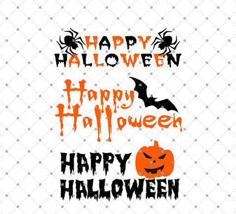 SVG files for Cricut Happy Halloween SVG Cut Files Silhouette Studio3 files PNG clipart free svg by SVG Cut Studio
