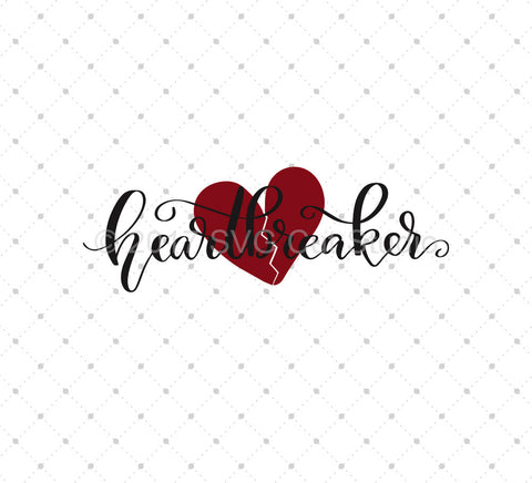 Heartbreaker SVG Cut Files - SVG DXF PNG cut cutting files for Cricut and Silhouette by SVG Cut Studio