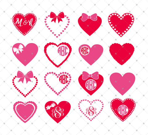 Hearts SVG Cut Files