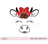 Heifer with Bow SVG Files