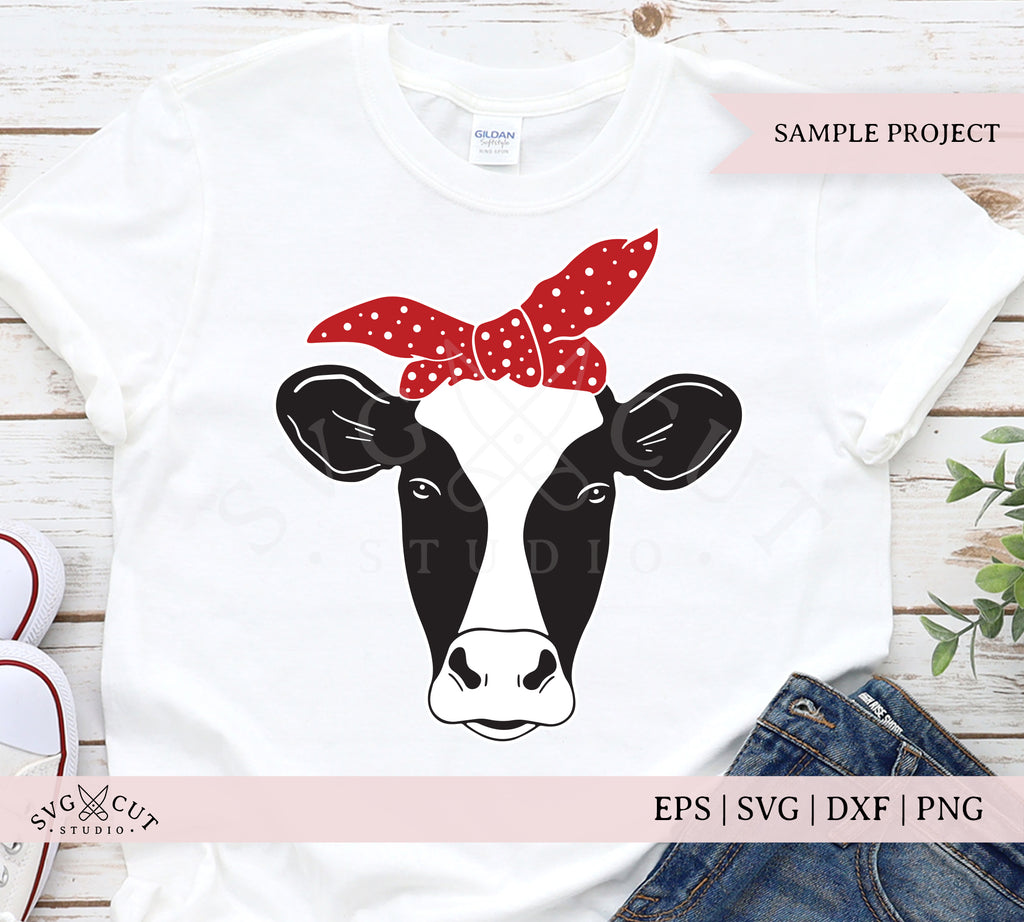 Heifer Face with Bandana SVG Files