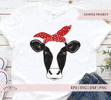 Heifer with Bandana SVG Files