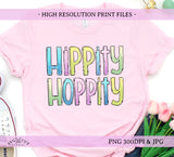 hippity hoppity png sublimation printable designn easter shirt design