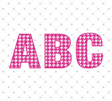 Houndstooth Alphabet SVG Cut Files - SVG Cut Studio