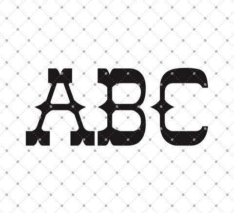 Initial Monogram Alphabet SVG Cut Files - SVG Cut Studio