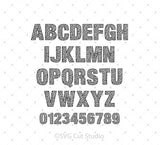 Installable Leopard Pattern Font at SVG Cut Studio