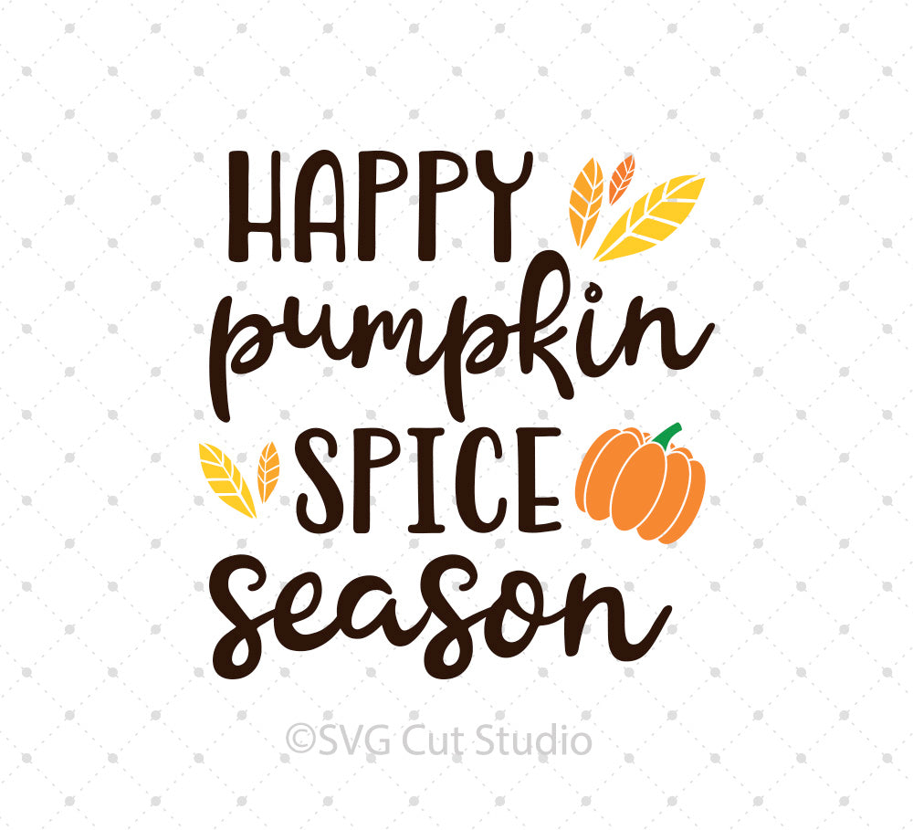 SVG files for Cricut Pumpkin Spice Season  SVG Cut Files Silhouette Studio3 files PNG clipart free svg by SVG Cut Studio