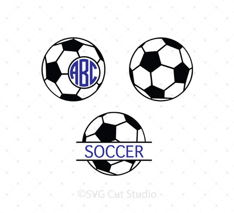 Soccer Ball Monogram SVG Cut Files
