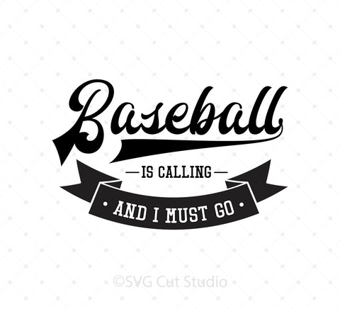 Baseball is Calling and I Must Go SVG cut files for Cricut Silhouette printable png dxf clipart and free svg files by SVG Cut Studio