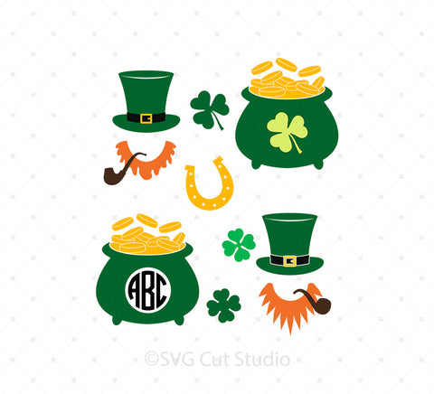 St Patrick's Day SVG Cut Files png dxf cutting files cricut silhouette free svg files christmas 4th of july valentines day easter svgcutstudio.com