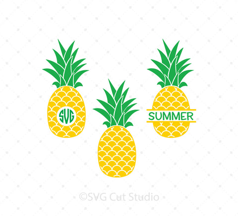 Pineapple Monogram Frames SVG Cut Files