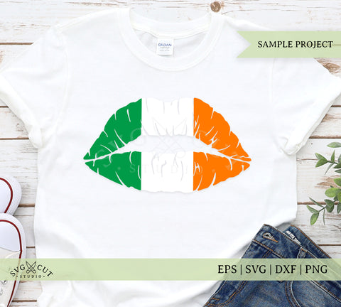 Irish Flag Lips SVG Cut Files
