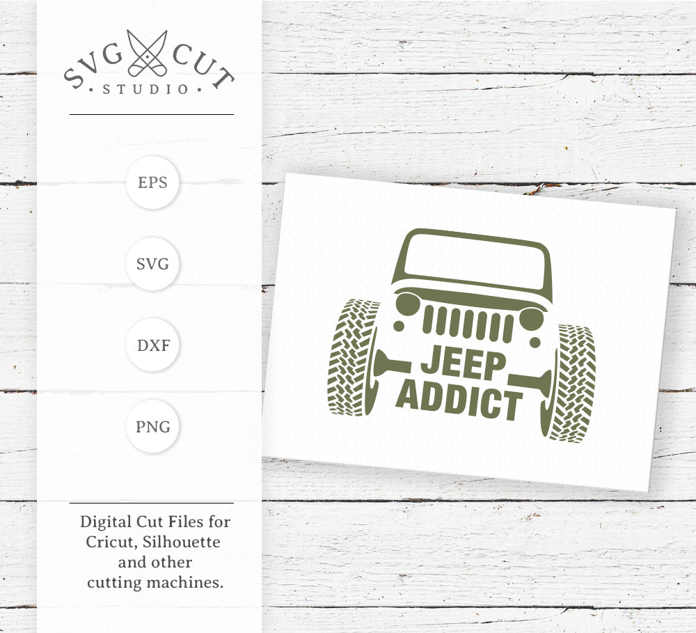 Jeep Addict SVG Files