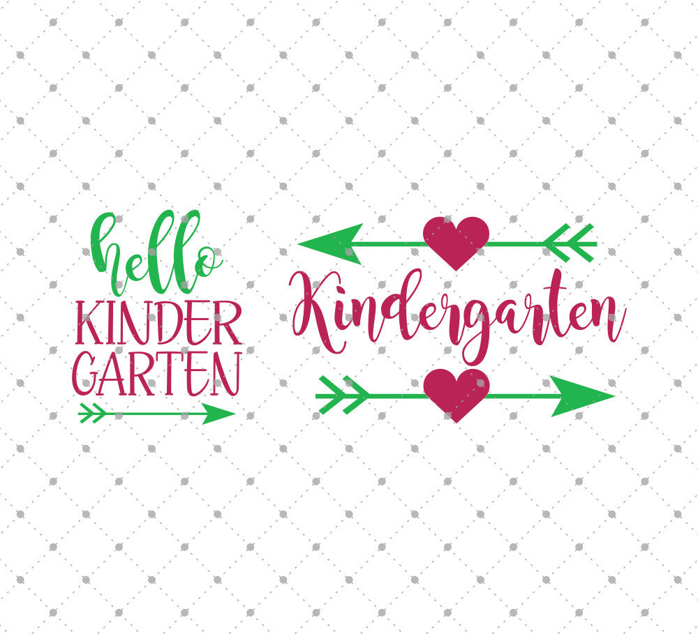 SVG files for Cricut Hello Kindergarten SVG Cut Files Silhouette Studio3 files PNG clipart free svg by SVG Cut Studio