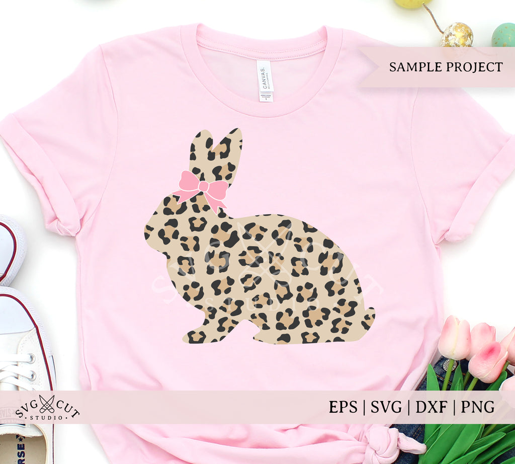 Leopard Print Easter Bunny SVG Files