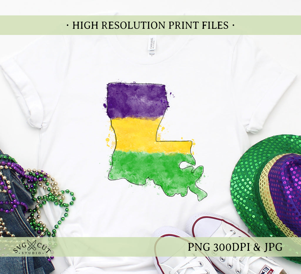 Louisiana Sublimation/Printable Design, Hand drawn Watercolour PNG