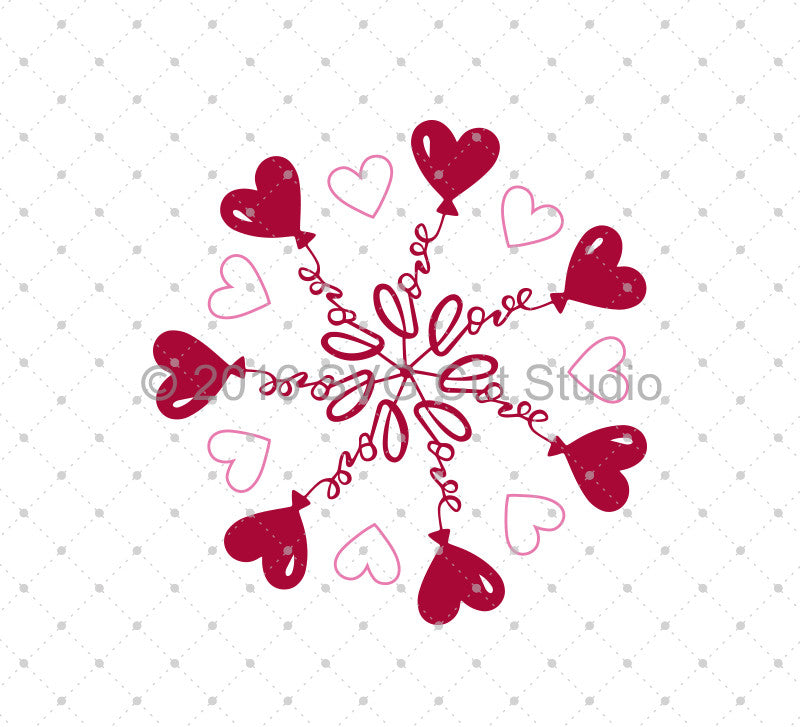 Valentine's Day Love Balloons SVG Cut Files