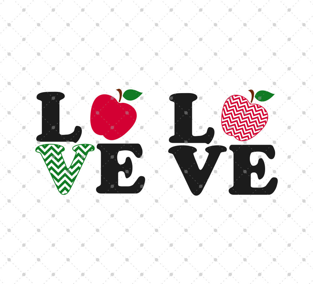 SVG files for Cricut Love Teacher, Love Apple SVG Cut Files Silhouette Studio3 files PNG clipart free svg by SVG Cut Studio