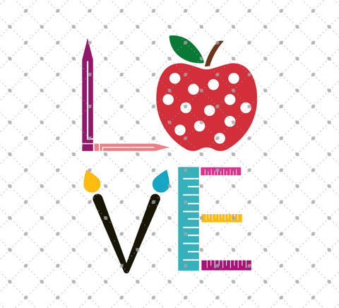 Love School SVG Cut Files D2 - SVG Cut Studio