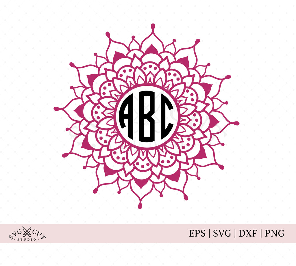Mandala Monogram SVG Cut Files