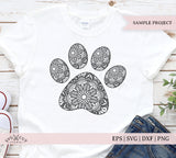 Mandala Paw SVG Files