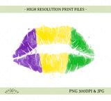 watercolour lips sublimation file